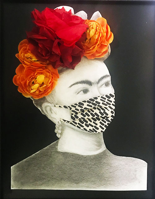 Elsie Deliz Frida in a Mask